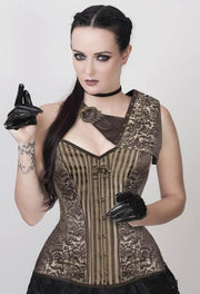 Gold Brocade Steampunk Overbust