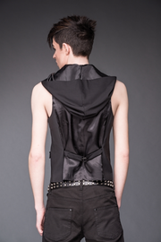 Hooded vest with bondages