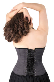 Dita Grey Steel Boned Overbust