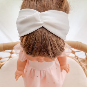 Doll Twist Knot Headband - Off White - Ready To Ship