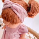 Doll Twist Knot Headband - Crushed Velvet Lilac - Ready To Ship