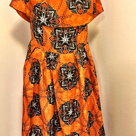 Hi-Lo African Print Dress - 88apparelcompany