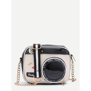 Camera Shaped Crossbody Bag With Buckle - 88apparelcompany