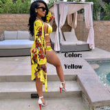 Women Green Leaf Print Two Piece Bathing Suit Swimsuit Swimwear - 88apparelcompany