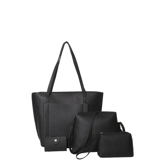 Pocket Front Tote Bag & Crossbody Bag & Clutch & Card Holder - 88@pparel