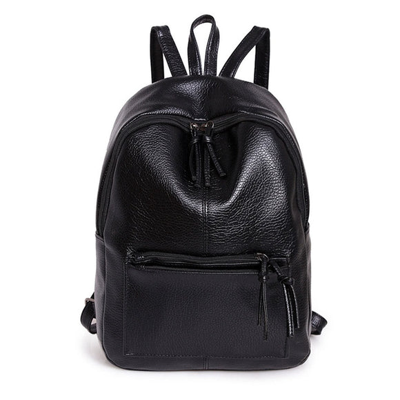 Zipper Front Backpack With Tassels - 88apparelcompany