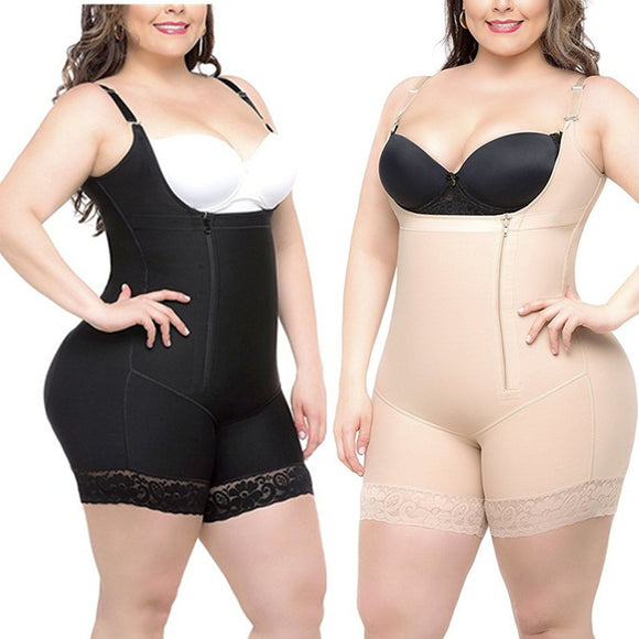 S-6XL Woman Slim Underbust Underwear Bodysuit Waist Training Tights Shapewear Body Shapers Lingerie Plus Size - 88apparelcompany