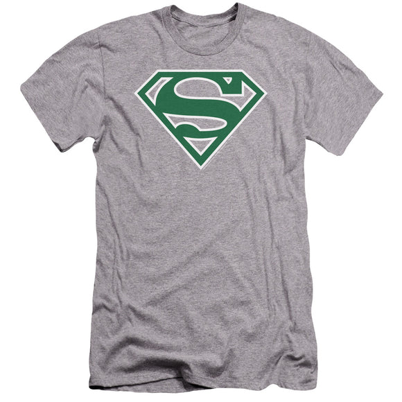 Superman - Green & White Shield Premium Canvas Adult Slim Fit 30/1 - 88apparelcompany