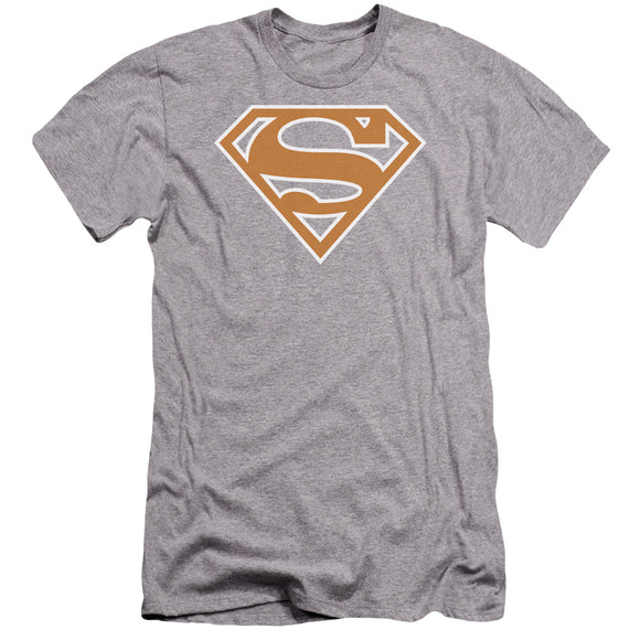 Superman - Burnt Orange&White Shield Premium Canvas Adult Slim Fit 30/1 - 88apparelcompany
