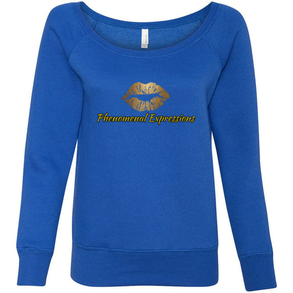 Phenomenal Expressions - Women's Sponge Fleece Wideneck Sweatshirt - 88apparelcompany