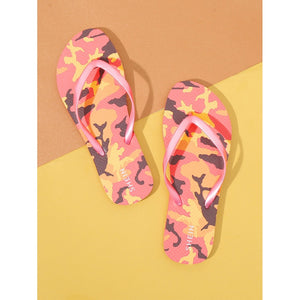 Camouflage Pattern Toe Post Slippers - 88apparelcompany