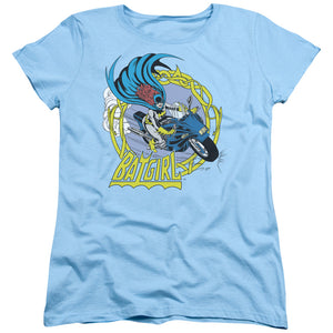 Dc - Batgirl Motorcycle Short Sleeve Women's Tee - 88apparelcompany
