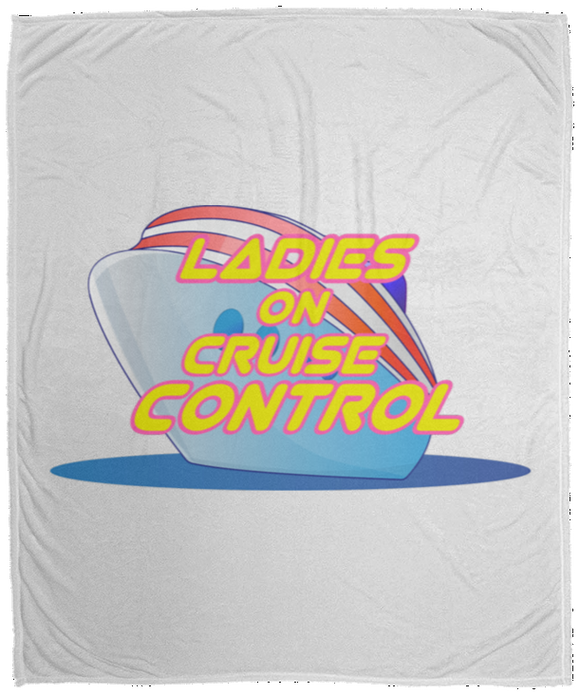 Ladies on cruise control Cozy Plush Fleece Blanket - 50x60