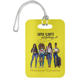Catching Flights Gold Luggage Bag Tag