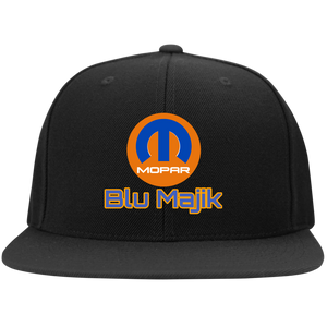 Blu Majik Sport-Tek Flat Bill High-Profile Snapback Hat - 88apparelcompany