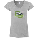 Gang Green Ladies' Fitted Softstyle 4.5 oz V-Neck T-Shirt
