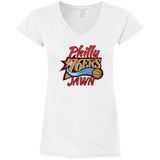 Philly Jawn Ladies' Fitted Softstyle 4.5 oz V-Neck T-Shirt - 88apparelcompany