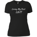 Living my best life Ladies' Boyfriend T-Shirt - 88apparelcompany