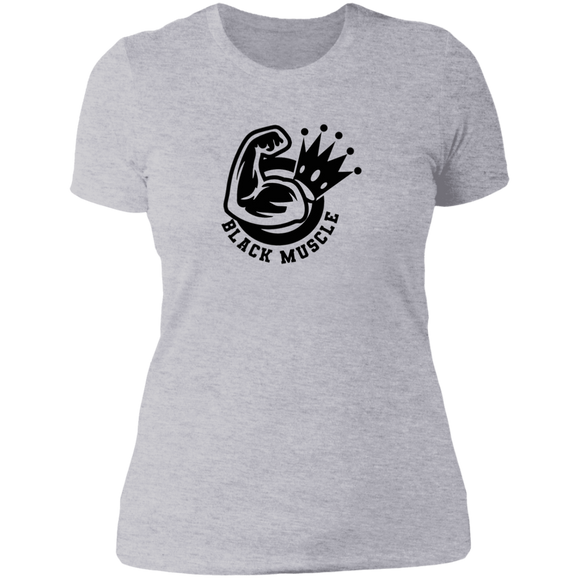 Black Muscle Ladies' Boyfriend T-Shirt