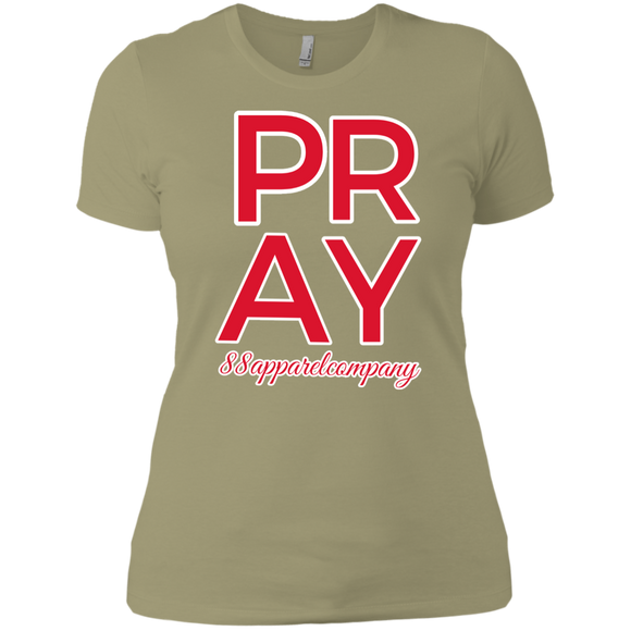 Pray Ladies' Boyfriend T-Shirt - 88apparelcompany