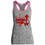 Level Up Sport-Tek Ladies' Moisture Wicking Electric Heather Racerback Tank
