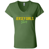 Bella + Canvas Ladies' Jersey V-Neck T-Shirt Sizes S-2XL - 88apparelcompany