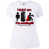 Hold On Ladies' Boyfriend T-Shirt - 88apparelcompany