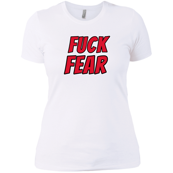 Fuck fear Ladies' Boyfriend T-Shirt - 88apparelcompany
