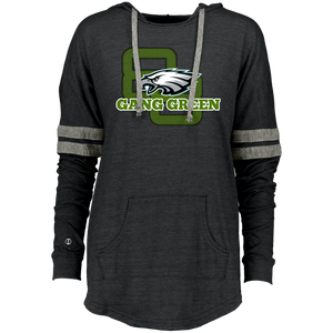 Gang green Ladies Hooded Low Key Pullover - 88apparelcompany