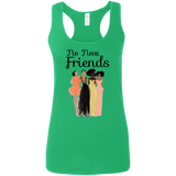 No New Friends Gildan Ladies' Softstyle Racerback Tank
