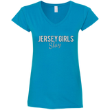 Jersey Slay Fitted Softstyle 4.5 oz V-Neck T-Shirt Sizes S-3XL - 88apparelcompany