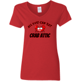 Crab  Attic Gildan Ladies' 5.3 oz. V-Neck T-Shirt