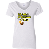 G500VL Gildan Ladies' 5.3 oz. V-Neck T-Shirt