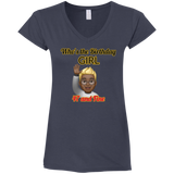 Birthday Girl 4.5 oz V-Neck T-Shirt