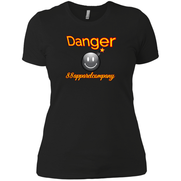 Danger Next Level Ladies' Boyfriend T-Shirt - 88apparelcompany