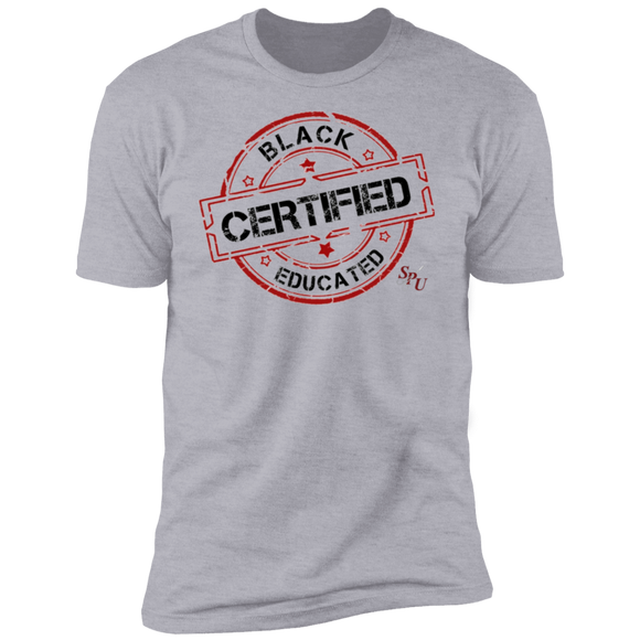 Sterile Black Educated Certified Premium Short Sleeve T-Shirt