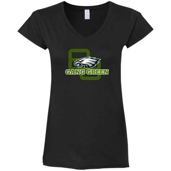 Gang Green Ladies' Fitted Softstyle 4.5 oz V-Neck T-Shirt - 88apparelcompany
