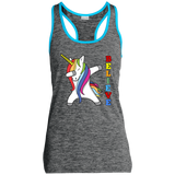 Unicorn Sport-Tek Ladies' Moisture Wicking Electric Heather Racerback Tank