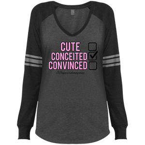 Conceited District Made Ladies' Game LS V-Neck T-Shirt - 88apparelcompany