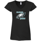 Eagles jawn Ladies' Fitted Softstyle 4.5 oz V-Neck T-Shirt - 88apparelcompany