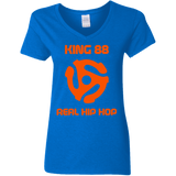 King 88 Gildan Ladies' 5.3 oz. V-Neck T-Shirt - 88apparelcompany