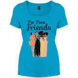 No New Friends District Women's Perfect Scoop Neck Tee