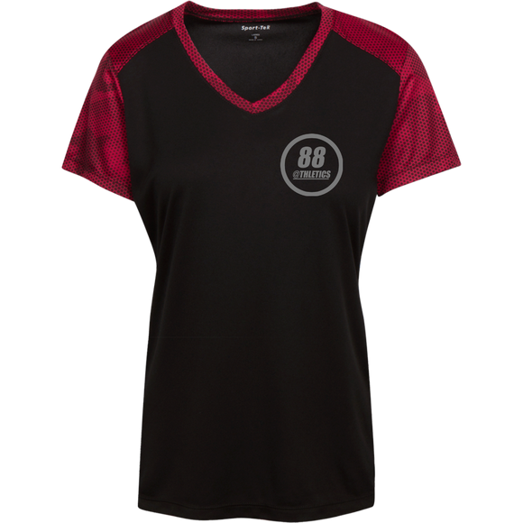 LST371 Sport-Tek Ladies' CamoHex Colorblock T-Shirt - 88apparelcompany