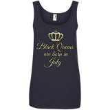 Queens are born in July Anvil Ladies' 100% Ringspun Cotton Tank Top - 88apparelcompany