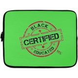 Sterile Black Educated Certified Laptop Sleeve - 13 inch