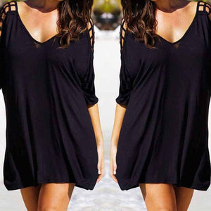 Summer Plus Size Cover Up Women Swimwear Beach Blouses Women Bikini Beach Wear Cover Up Dress