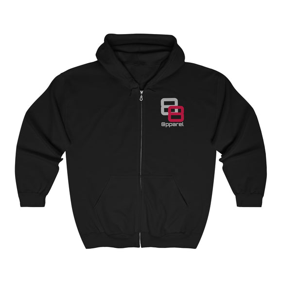 Double 8 Full Zip Hooded Sweatshirt - 88apparelcompany