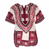 New Fashion Women's Vintage Dashiki Dress Traditional African Print Short Sleeve Dashiki Shirt Robe Femme T-shirt For Women - 88apparelcompany