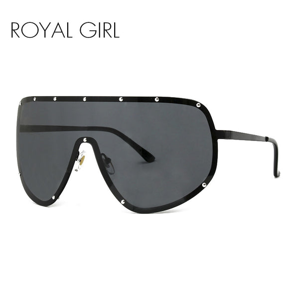 ROYAL GIRL Oversized Men Polarized Face Sunglasses women sun shades big glasses Statement Glasses ss061 - 88apparelcompany
