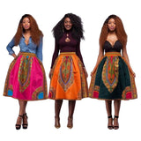 Women Dress Dashiki Hippie High Waist Skater Mexican African Dress Long Dress New - 88apparelcompany